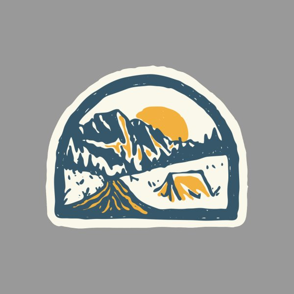 Design for Camping Hand Drawn