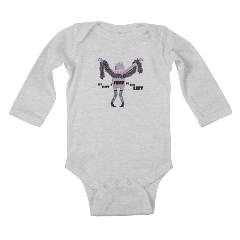 It's Just a Jump to the Left Kids Baby Longsleeve Bodysuit by Quillhound