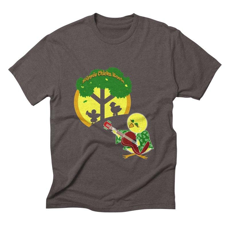 Hippie Chicks Rock Men's Triblend T-Shirt by Quillhound