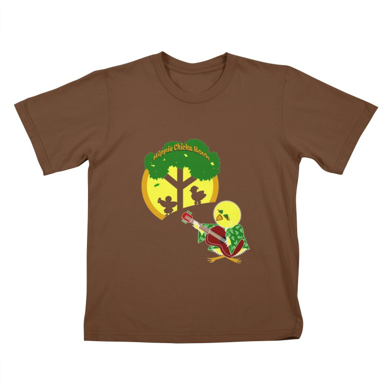 Hippie Chicks Rock Kids T-Shirt by Quillhound