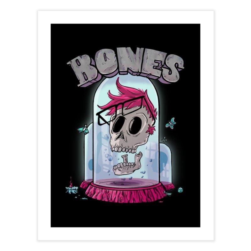 Nerd Bones Home Fine Art Print by Quillustration