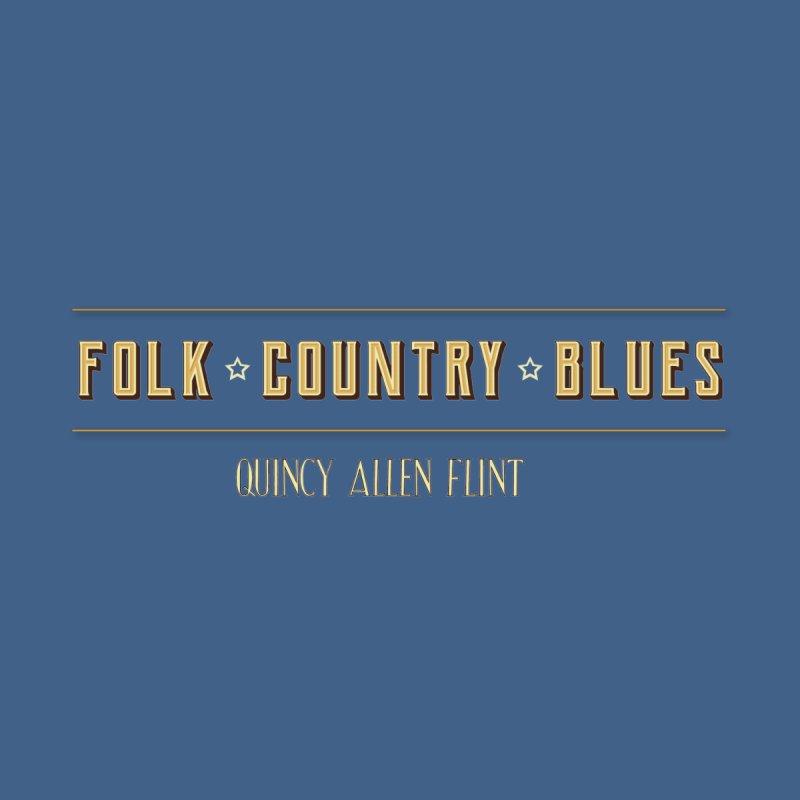 Quincy Allen Flint - Folk Country Blues Men's T-Shirt by Quincy's T-Shirt Shop