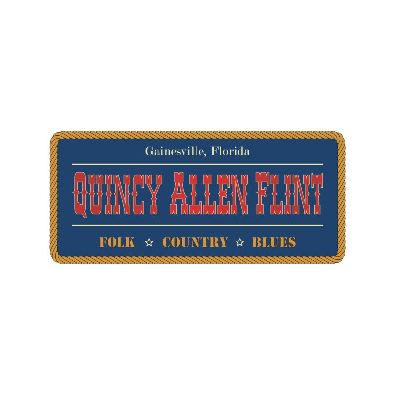Quincy Allen Flint - License Plate Men's T-Shirt by Quincy's T-Shirt Shop