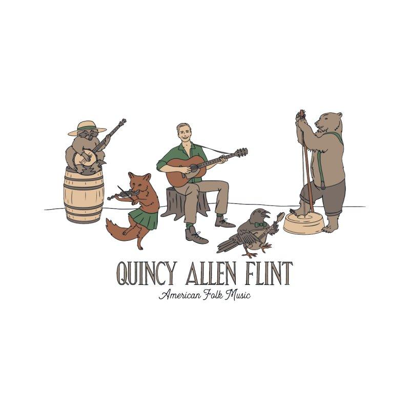 Quincy Allen Flint - American Folk Music Men's T-Shirt by Quincy's T-Shirt Shop