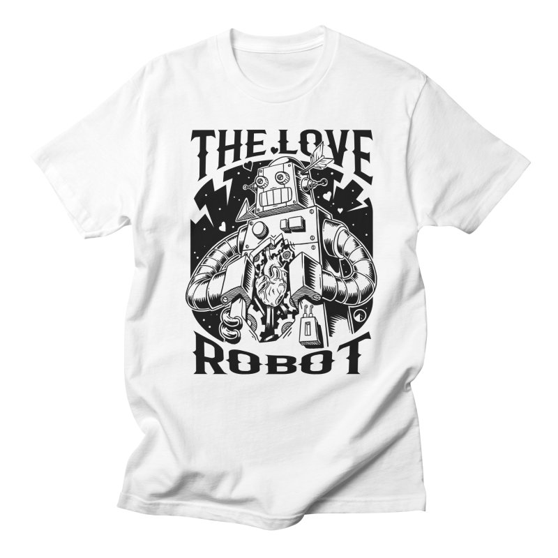 The robot love in Men's Regular T-Shirt White by QUINTO C Artist Shop