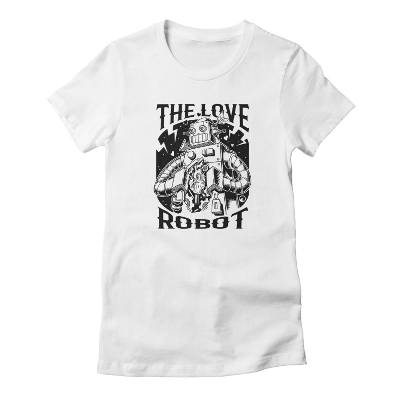 The robot love Women's French Terry Sweatshirt by QUINTO C Artist Shop