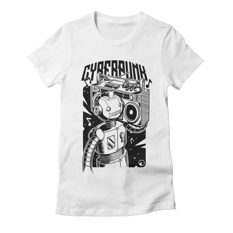 Cyberpunk Women's Fitted T-Shirt by QUINTO C Artist Shop