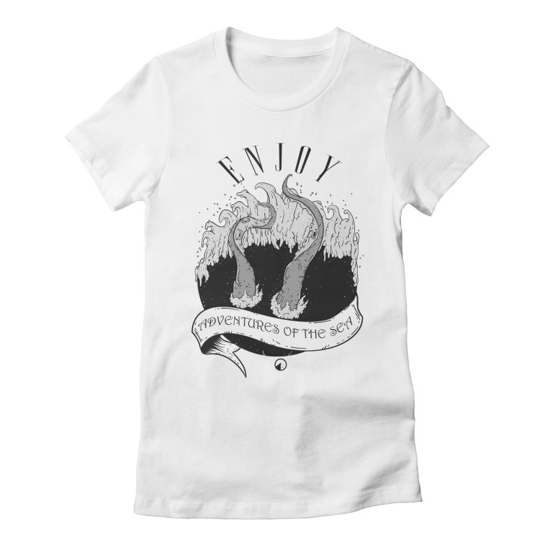 Adventures of the sea Women's Fitted T-Shirt by QUINTO C Artist Shop