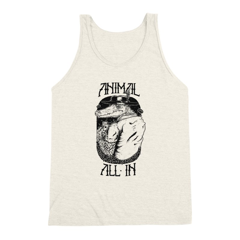 Animal All In Men's Triblend Tank by QUINTO C Artist Shop