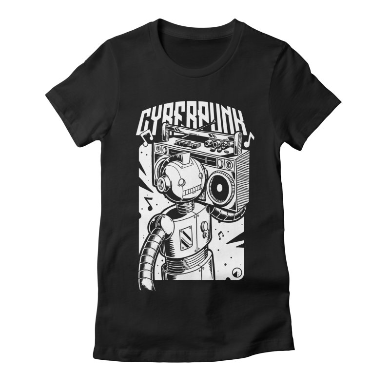 Cyberpunk 2 Women's Fitted T-Shirt by QUINTO C Artist Shop