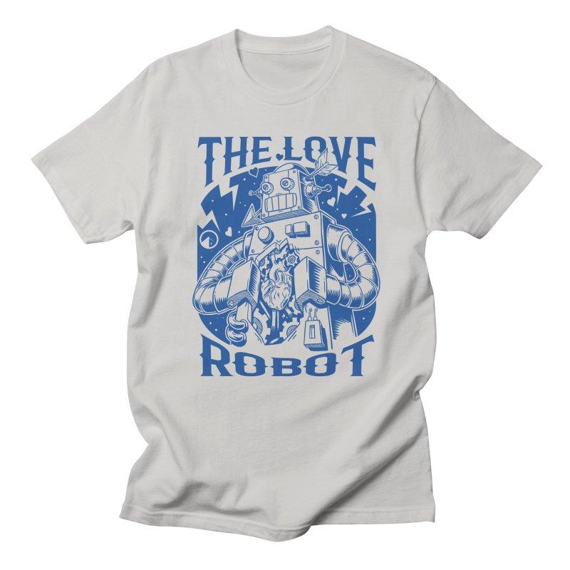 The robot love blue Men's T-shirt by QUINTO C Artist Shop