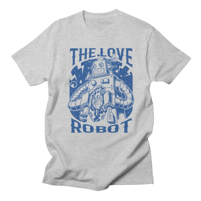 The robot love blue Men's T-shirt by QUINTO C Artist Shop