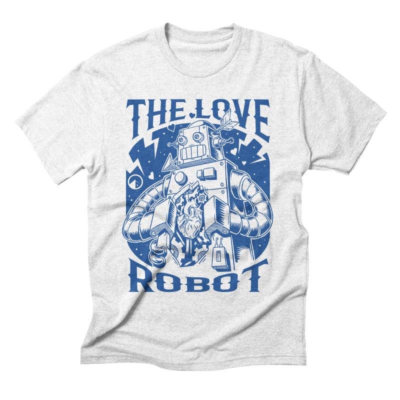 The robot love blue Men's Triblend T-shirt by QUINTO C Artist Shop