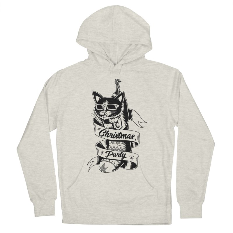 Christmas Cat Men's Pullover Hoody by QUINTO C Artist Shop