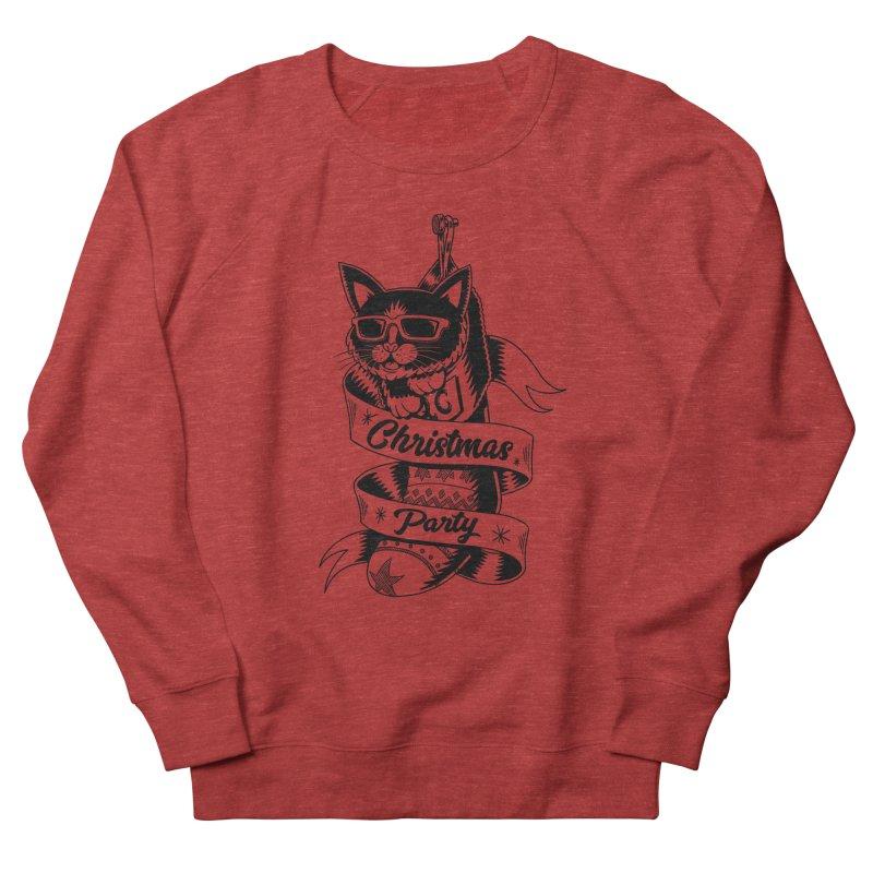 Christmas Cat Men's Sweatshirt by QUINTO C Artist Shop