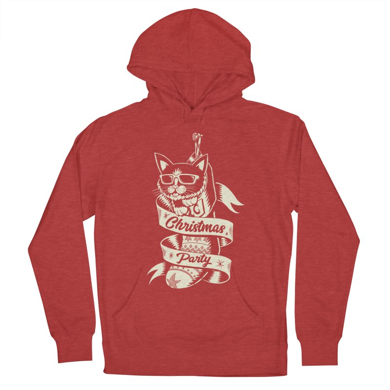 Christmas Cat 2 Men's Pullover Hoody by QUINTO C Artist Shop