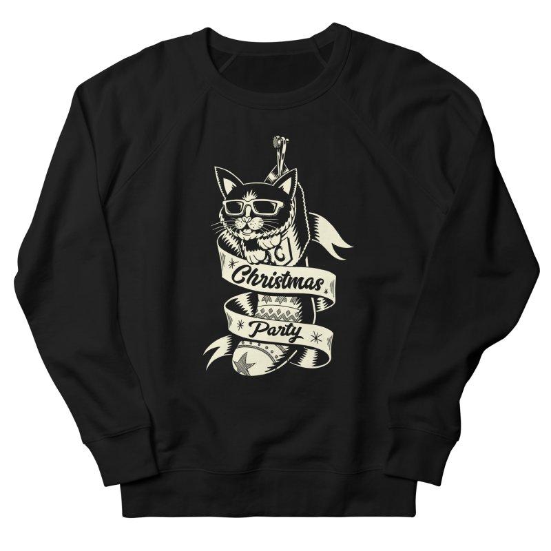 Christmas Cat 2 Men's Sweatshirt by QUINTO C Artist Shop