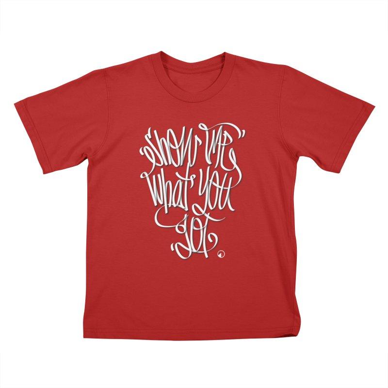 Show me what you got! Kids T-shirt by QUINTO C Artist Shop