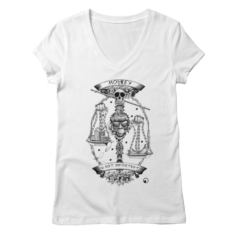 Monkey is not important Women's V-Neck by QUINTO C Artist Shop