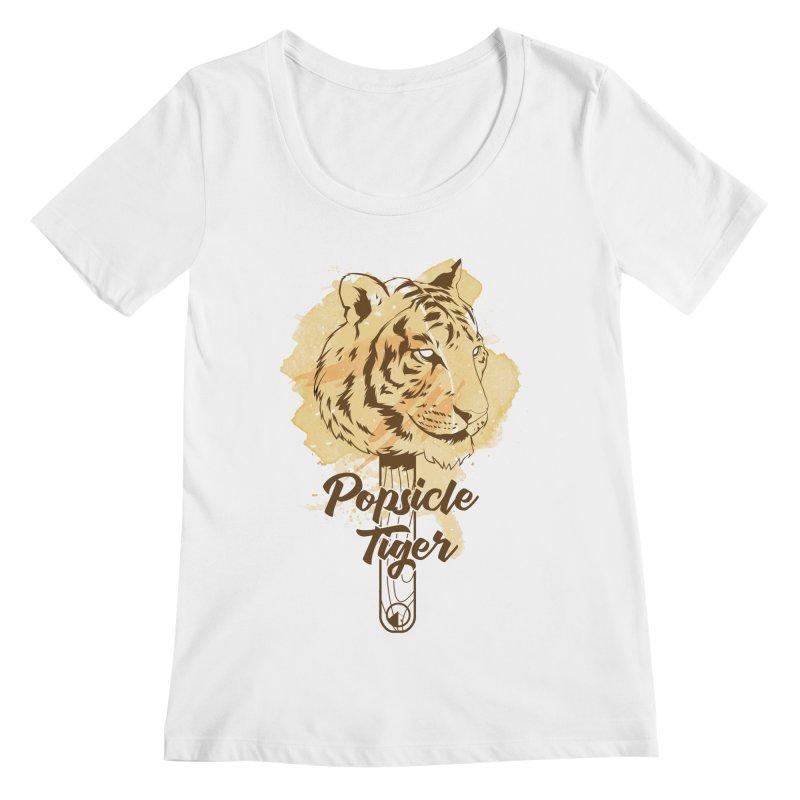 Popsicle Tiger Women's Regular Scoop Neck by QUINTO C Artist Shop