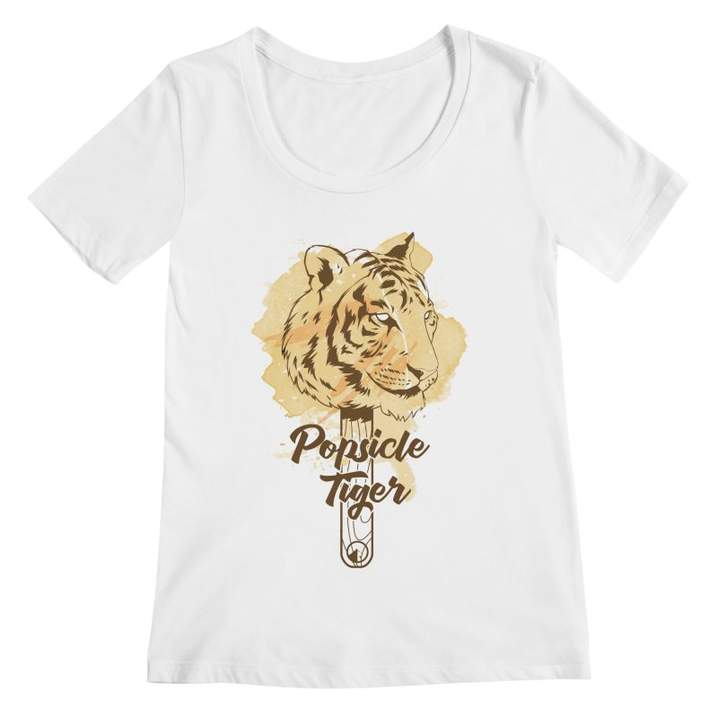Popsicle Tiger Women's Scoopneck by QUINTO C Artist Shop