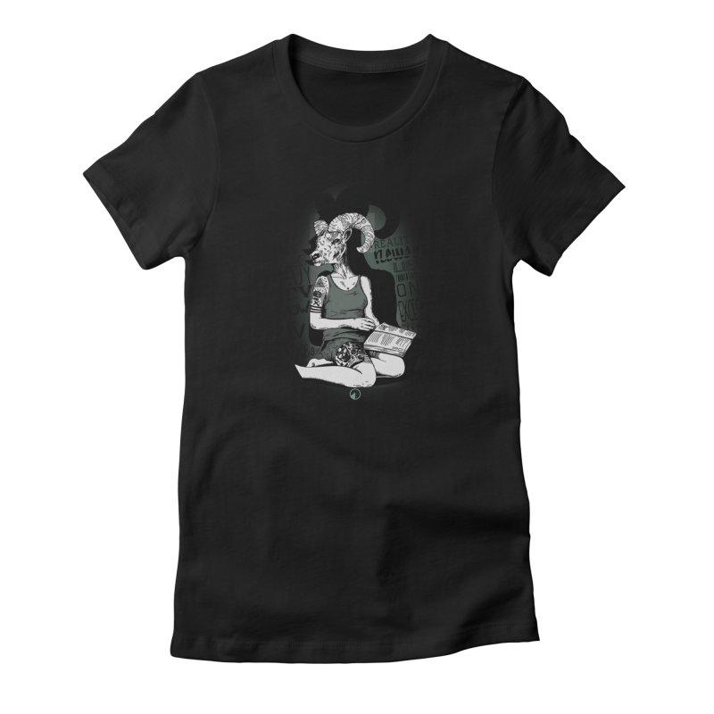 TV vs BOOKS Women's French Terry Sweatshirt by QUINTO C Artist Shop