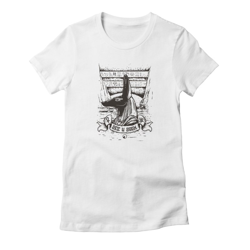 Anubis Women's French Terry Sweatshirt by QUINTO C Artist Shop