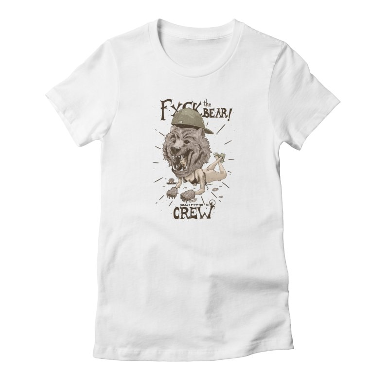 Fxck the bear! Women's French Terry Sweatshirt by QUINTO C Artist Shop