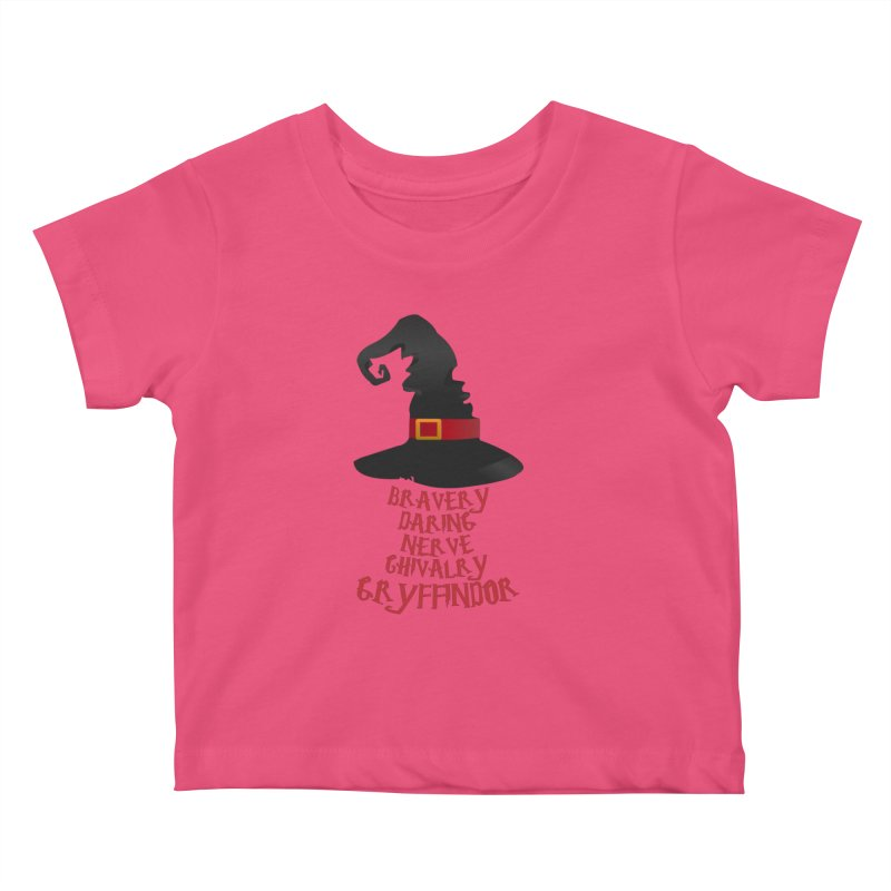 Harry Potter Gryffindor Kids Baby T-Shirt by Quirkitup's Artist Shop