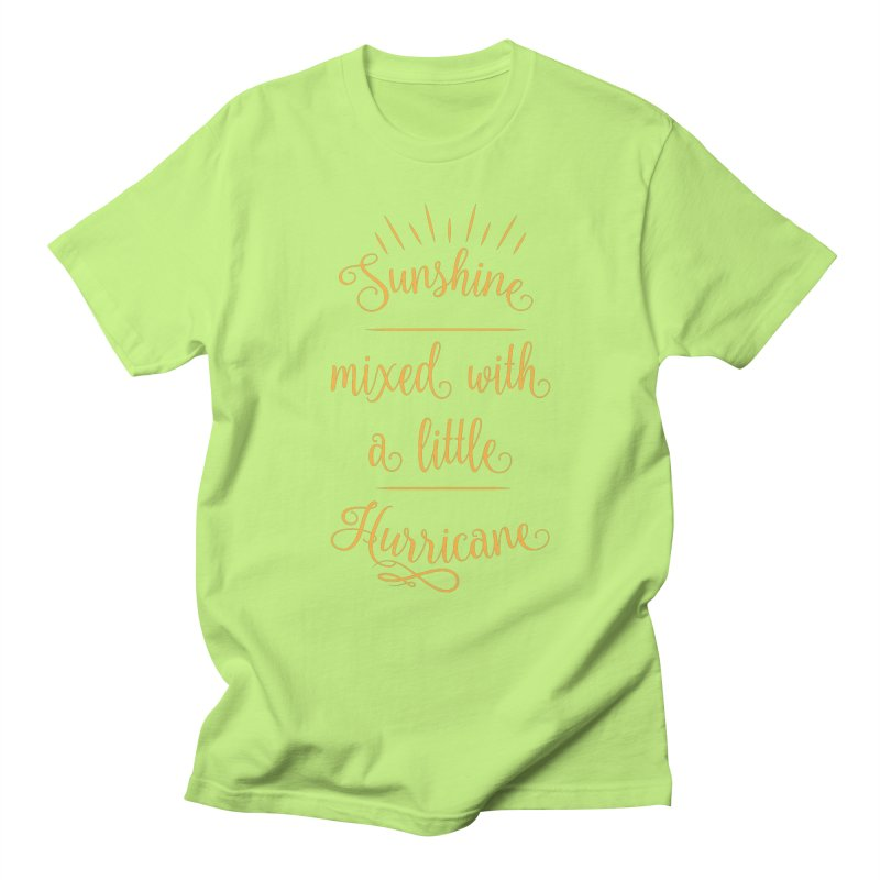 Sunshine mixed with a little hurricane Men's Regular T-Shirt by Quirkitup's Artist Shop