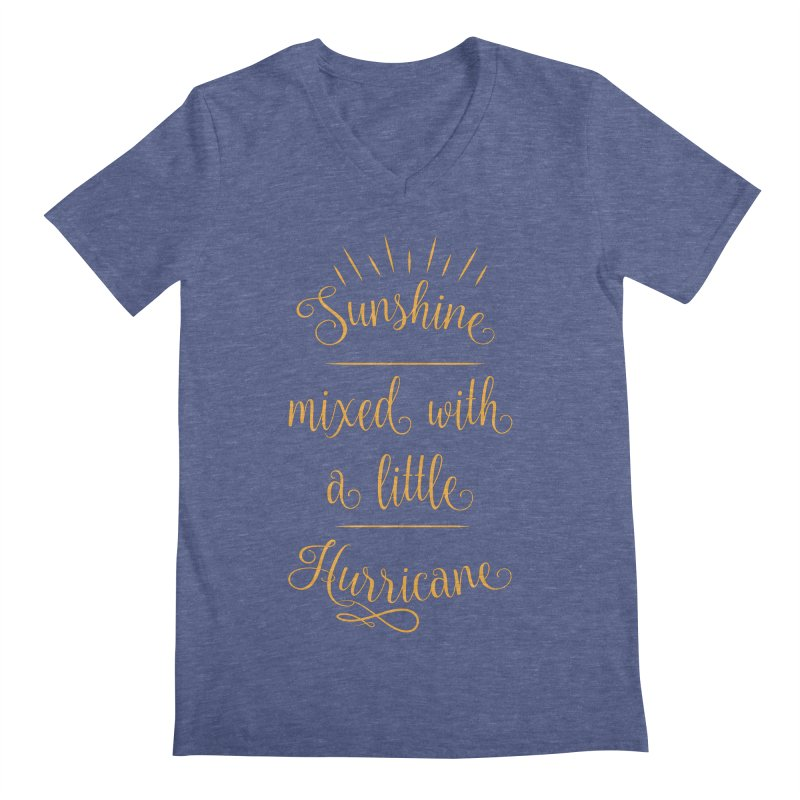 Sunshine mixed with a little hurricane Men's Regular V-Neck by Quirkitup's Artist Shop