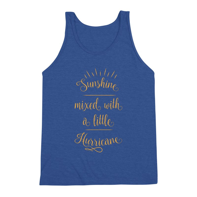 Sunshine mixed with a little hurricane Men's Triblend Tank by Quirkitup's Artist Shop