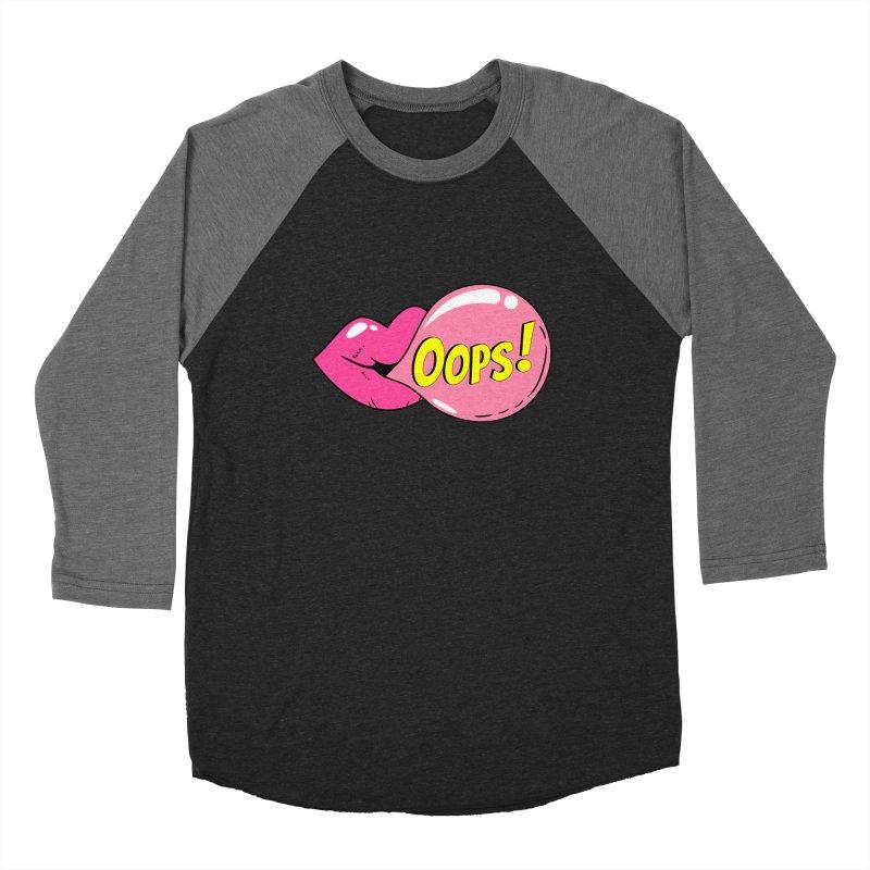 Bubblegum Oops Women's Baseball Triblend Longsleeve T-Shirt by Quirkitup's Artist Shop