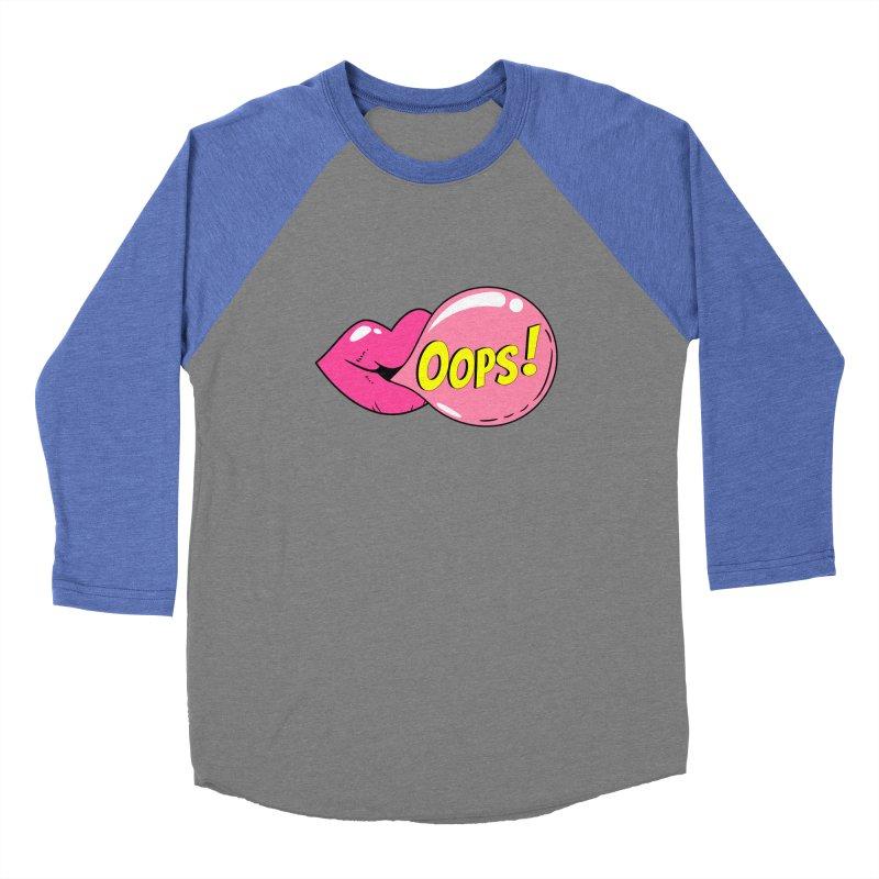 Bubblegum Oops Men's Baseball Triblend Longsleeve T-Shirt by Quirkitup's Artist Shop