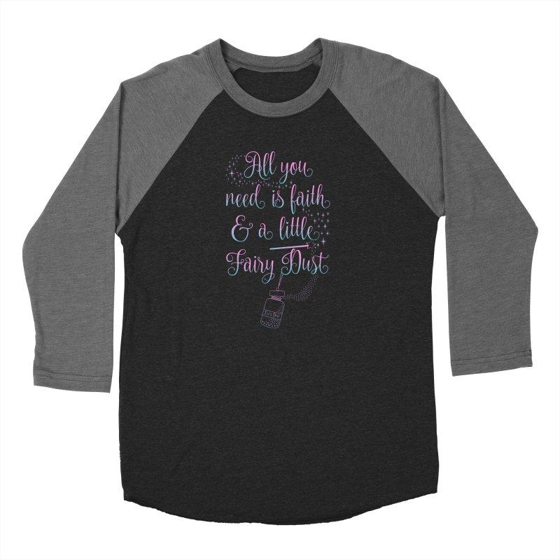 Fairy Dust Men's Baseball Triblend Longsleeve T-Shirt by Quirkitup's Artist Shop