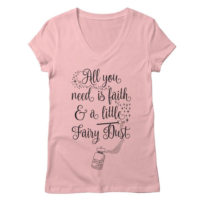 Fairy Dust Women's Regular V-Neck by Quirkitup's Artist Shop