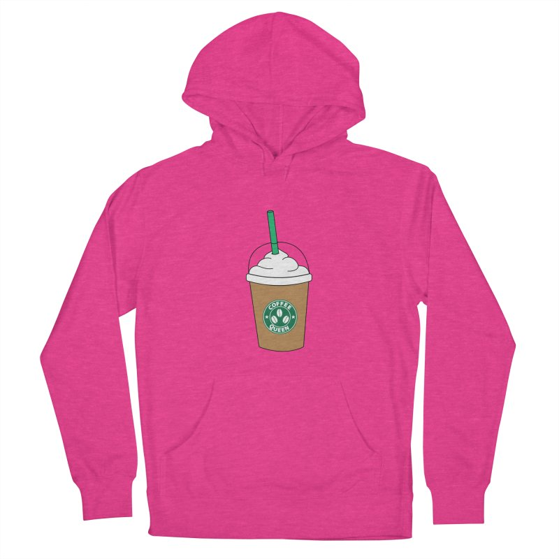 Coffee Queen Men's French Terry Pullover Hoody by Quirkitup's Artist Shop