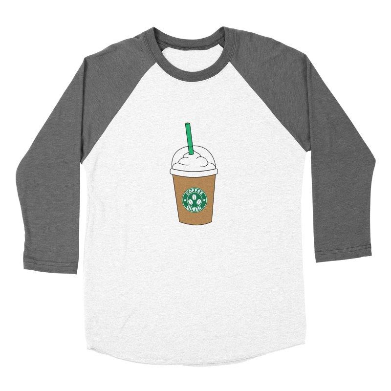 Coffee Queen Women's Baseball Triblend Longsleeve T-Shirt by Quirkitup's Artist Shop