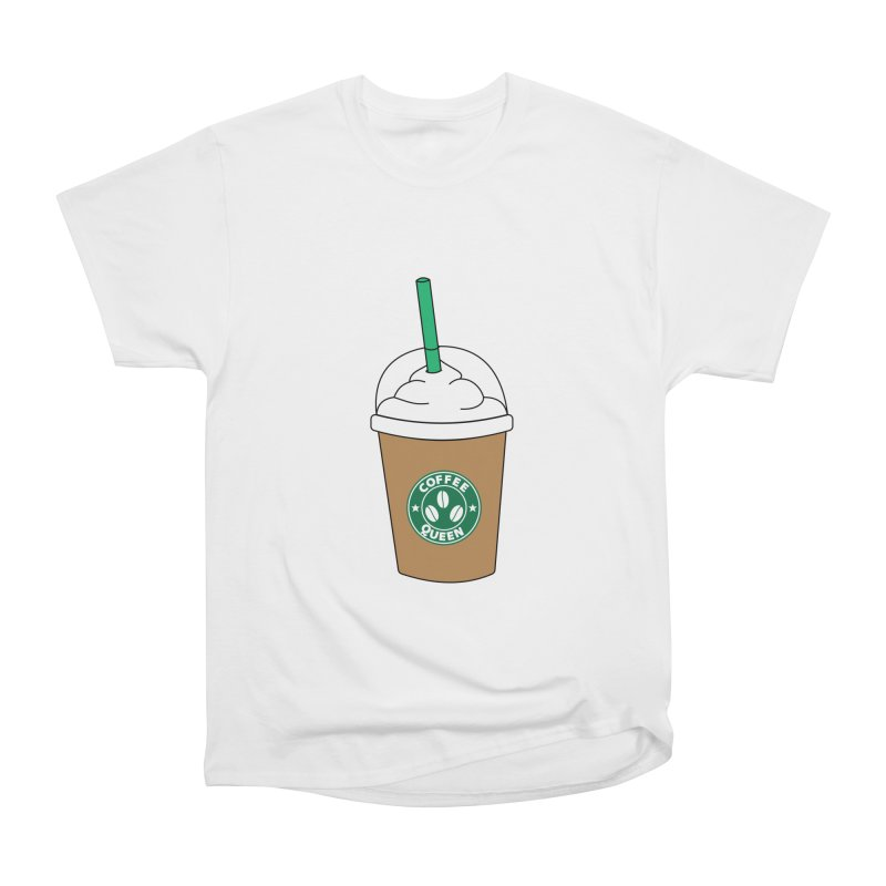 Coffee Queen Women's Heavyweight Unisex T-Shirt by Quirkitup's Artist Shop