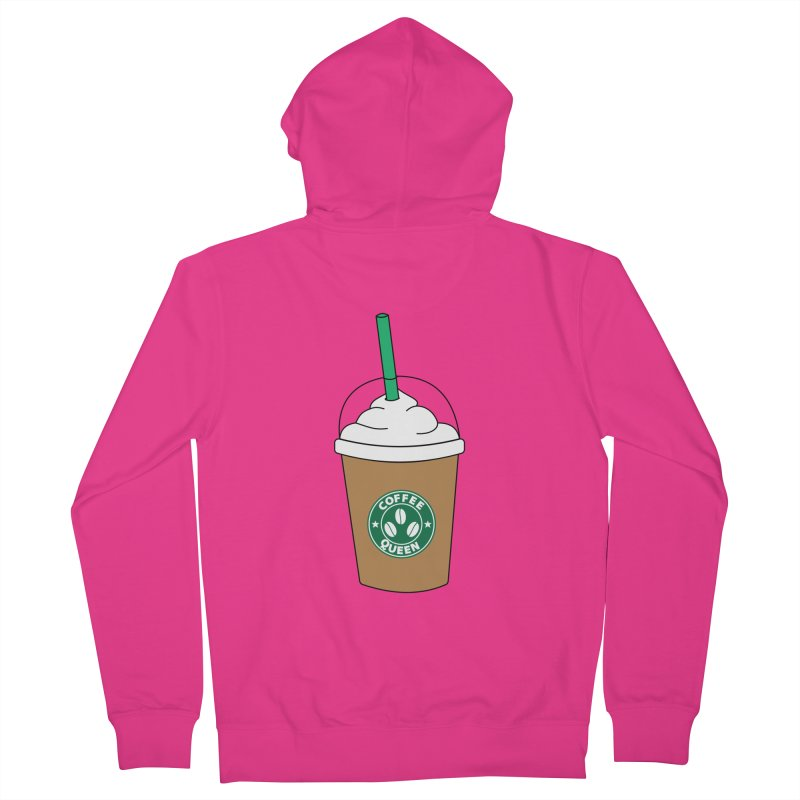 Coffee Queen Men's French Terry Zip-Up Hoody by Quirkitup's Artist Shop