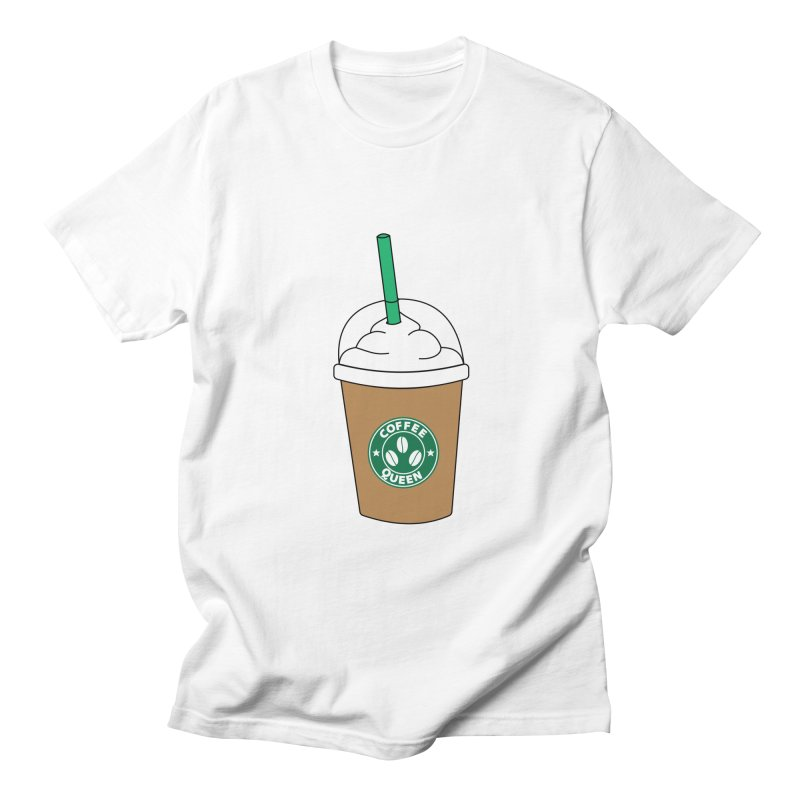 Coffee Queen Women's Regular Unisex T-Shirt by Quirkitup's Artist Shop