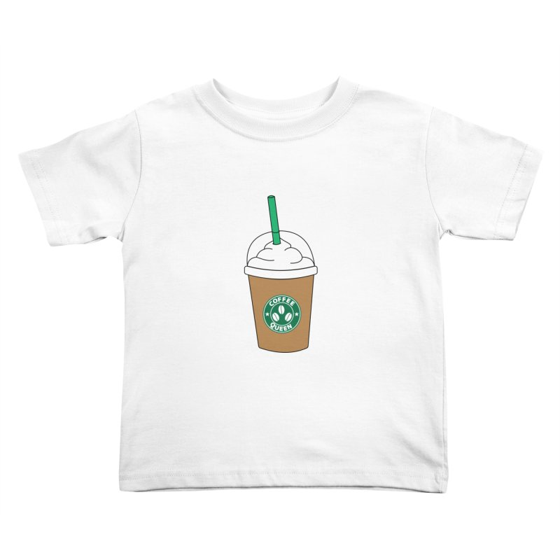 Coffee Queen Kids Toddler T-Shirt by Quirkitup's Artist Shop