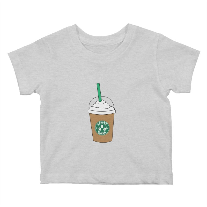 Coffee Queen Kids Baby T-Shirt by Quirkitup's Artist Shop