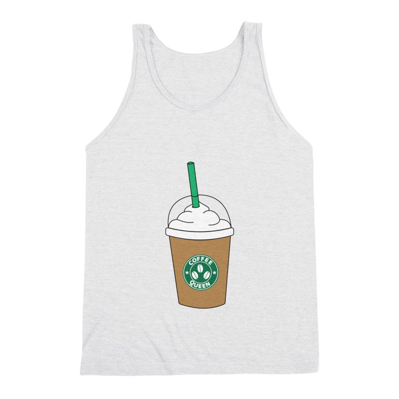 Coffee Queen Men's Triblend Tank by Quirkitup's Artist Shop