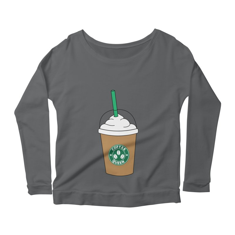 Coffee Queen Women's Scoop Neck Longsleeve T-Shirt by Quirkitup's Artist Shop