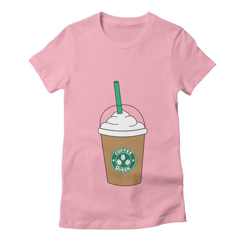 Coffee Queen Women's Fitted T-Shirt by Quirkitup's Artist Shop