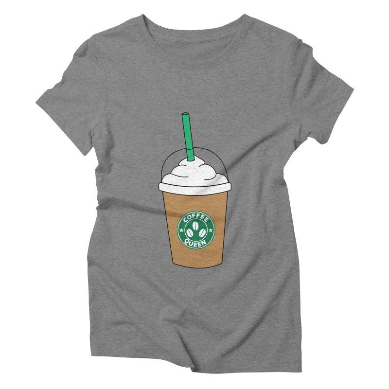 Coffee Queen Women's Triblend T-Shirt by Quirkitup's Artist Shop