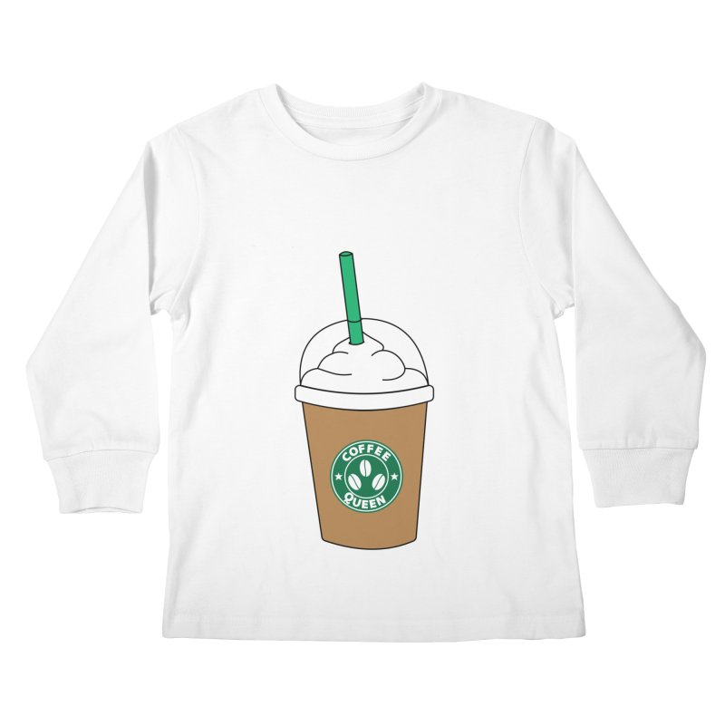 Coffee Queen Kids Longsleeve T-Shirt by Quirkitup's Artist Shop