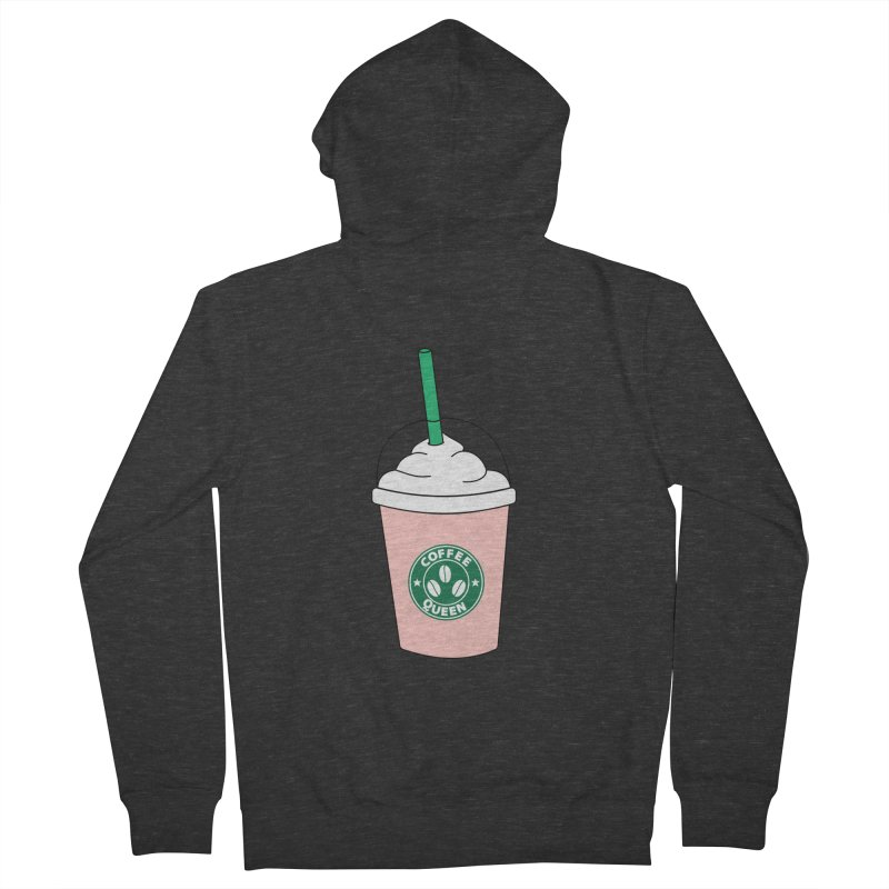 Coffee Queen Women's French Terry Zip-Up Hoody by Quirkitup's Artist Shop