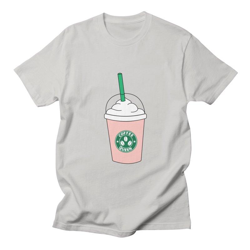 Coffee Queen Men's Regular T-Shirt by Quirkitup's Artist Shop